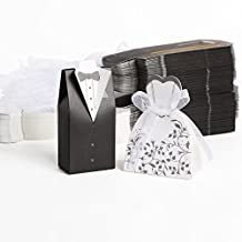 Wedding Candy Boxes, Lance Home 100PCS/50 Pairs Wedding Bomboniere Cake Favour Candy Gift Boxes Dress Tuxedo Boxes