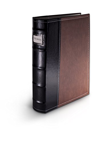 Bellagio-Italia DVD Storage Binder Brown - Holds 48 Discs - Stores Cover Art - Acid Free Sheets (Cd / Dvd 48)