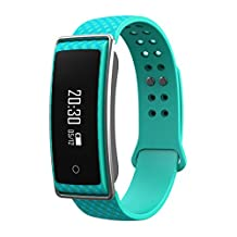 Techcomm Y36 PLUS Waterproof fitness tracker with Heart-rate & Sleep monitor, Camera Control, Bluetooth (Turquoise)