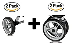 Includes Two rear wheels and two front wheels for the City Mini Double Strollers.ONLY Compatible with City Mini Double Stroller. NOT compatible with City Micro, GT single, GT double, City Elite or Summit X3 or Summit XC models. All four wheel...