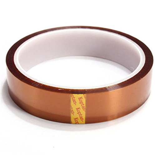 LiPing 33M(118in) High/Low-Temp Kapton Tape Polyimide Film Tape for 3D Printing, Soldering, Insulating Circuit Boards & More (High-Temp, ()