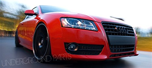 GLOSS BLACK GRILL AND BOOT BADGES - AUDI A1 A3 A4 A5 A6