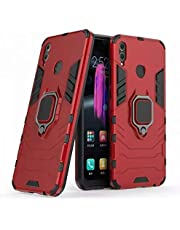 For Huawei P30 Lite iron man back caver With Metal Ring - Red