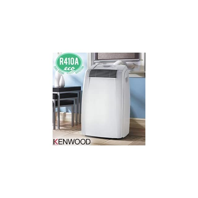 Kenwood PAC C130EK 13,000 BTU Portable Room Air Conditioner Cools Up To 400 Sq. Ft. Electronic Controls with LCD Display Dehumidifier Function