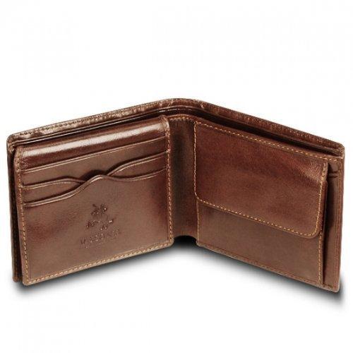 Visconti - Cartera hombre piel para 6 tarjetas MZ-4 de Luxe Neuf, marrón (marrón), talla única: Amazon.es: Zapatos y complementos