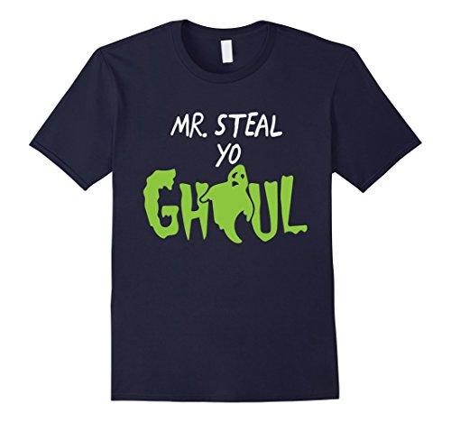 Homemade Mr Men Costume (Mens Mr Steal Yo Ghoul T-Shirt Medium Navy)