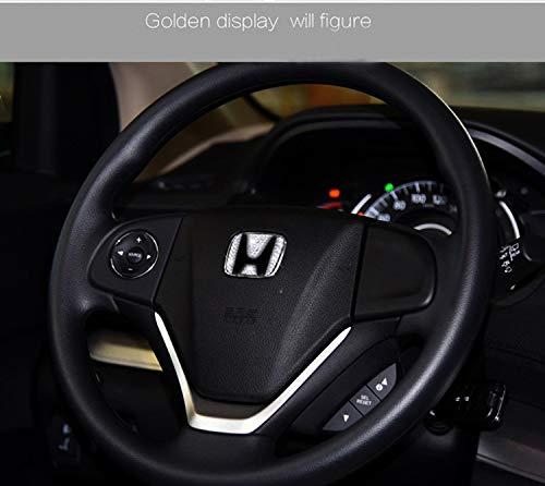 Thor-Ind Bling Crystal Car Interior Steering Wheel Emblem Logo Badge Cover Trim Sticker for Honda Civic Accord Pilot CR-V CRV,etc