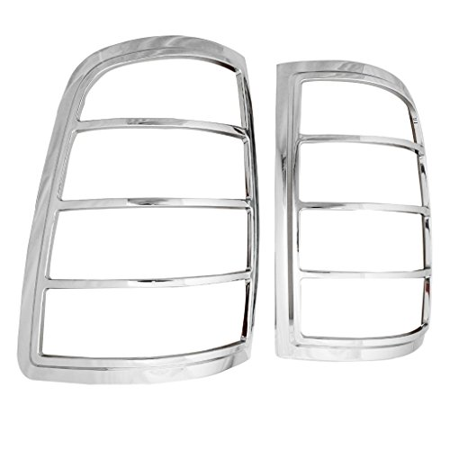 EAG Tail Light Bezels Triple Chrome Plated ABS Fit for 09-16 Dodge Ram 1500/10-16 Dodge Ram 2500/3500
