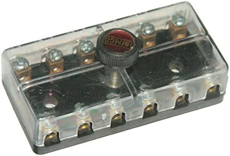 amazon com enfield county 12 volt fuse box holder 6 poles way jeeps AGU Fuse Holder