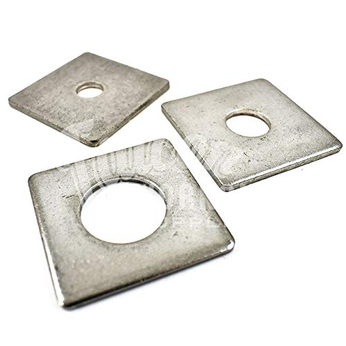 Pack of 6, M16 x 50 x 50 x 3mm - Square Plate/Round Hole Washers A2 Stainless Steel Falcon Workshop Supplies Ltd.