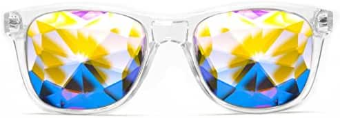 GloFX Ultimate Kaleidoscope Glasses - Rainbow EDM Rave Light Diffraction Eyewear Edge Cut Bug Eye