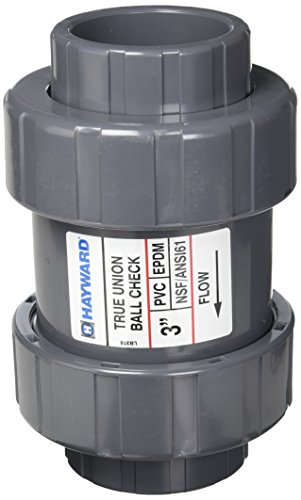 Hayward TC1300SE 3-Inch PVC TC Series True Union Check Valve with EPDM Seals and Socket End Connection by Hayward