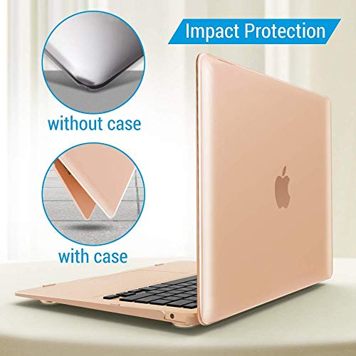iBenzer MacBook Air 13 Inch Case 2018 Release New Version A1932, Soft Touch Hard Case Shell Cover for Apple MacBook Air 13 Retina with Touch ID, Crystal Clear, MMA-T13CYCL by IBENZER (Image #5)