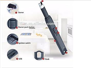Thunder Bolt Pro electrónico USB encendedor batería, doble arco Spark seguro para uso en barbacoas