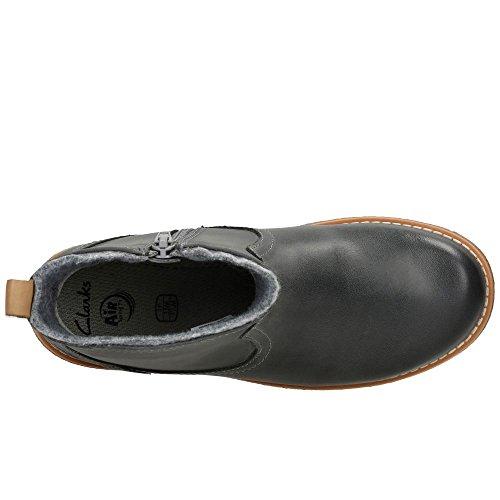 Clarks Tildy Moe Jnr, Mädchen Stiefel & Stiefeletten  grau grau