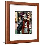 james dean chris consani - ArtEdge Destiny James Dean by Chris Consani, Brown Wall Art Framed Print, 12x9, Soft White Mat