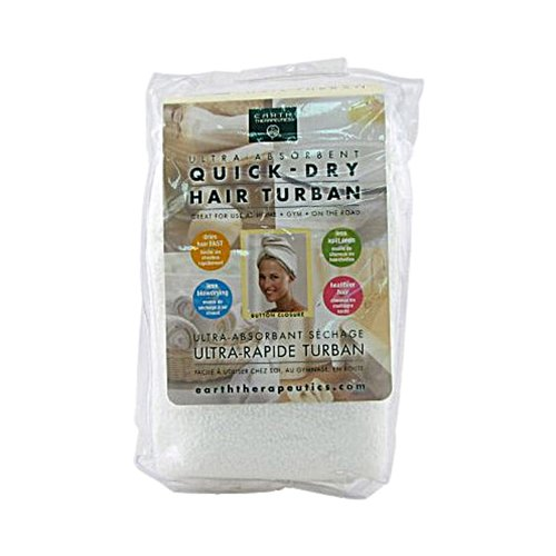 2 Packs of Earth Therapeutics Quick Dry Hair Turban Ultra-absorbent - 1 Cloth by Earth Therapeutics (Image #2)