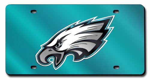 - NFL Philadelphia Eagles Laser Inlaid Metal License Plate Tag