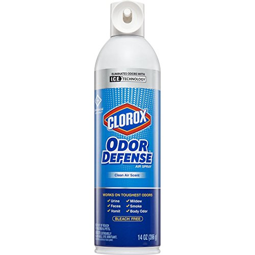 Clorox Commercial Solutions Odor Defense Smoke Remover Air Spray, Clean Air Scent, Bleach Free, Removes Smoke and Marijuana Odors, 14 oz Aerosol