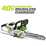 POWERSMITH PCS140H 14-Inch 40V Max Rechargeable Cordless Chainsaw - Brushless Motor- Long-Lasting, Eco-Friendly Lithium-Ion Battery Powered Chain Saw, Battery & Charger Included