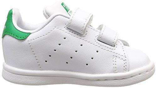 adidas Originals Unisex Baby Stan Smith CF Lauflernschuhe Weiß (Ftwr White/Ftwr White/Green)