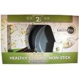 "The Original Green Pan Healthy Ceramic Non Stick Pan 2 Piece Set 10"" and 12"""