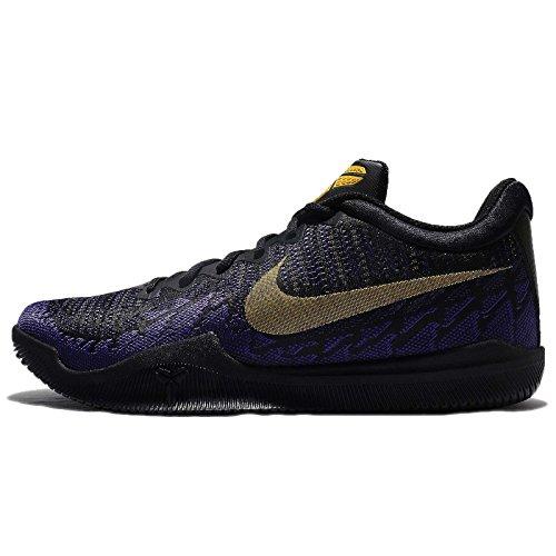 NIKE Men's Mamba Rage Basketball Shoe Black/Tour Yellow/Court Purple (11, Black/Tour Yellow-Court Purple)