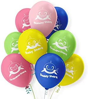 Amazon.com: Baby Shark Party Supplies - Globo de 24 pulgadas ...