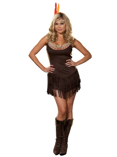 Plus Size Pocahontas Costumes (Pocahottie Adult Costume - Plus Size 3X/4X)