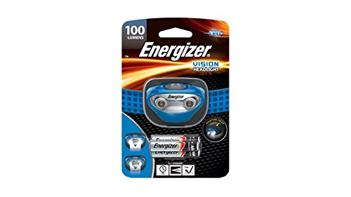 Vision LED Headlight 80 Lumens With High and Low Modes and 3-AAA Energizer MAX batteries
