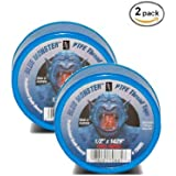 "2 PACK- Milrose 70885 Blue Monster 1/2"" x 1429' Blue Teflon Tape"