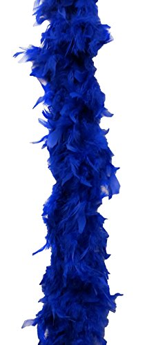 Dark Blue Glamorous Feather Boa