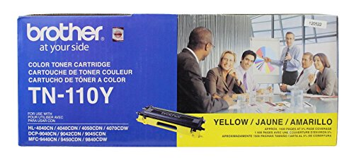 Brother TN-110Y Toner Cartridge, Yellow 110 Laser Toner Cartridge