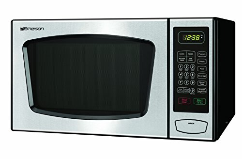 Emerson 0.9 CU. FT. 900 Watt Touch-Control Microwave Oven, Stainless Steel, MW8991SB
