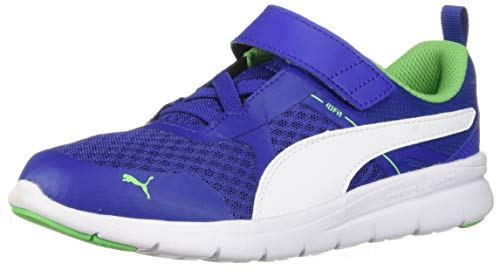 (PUMA Unisex-Baby Flex Essential Velcro Sneaker, surf The Web White, 9 M US)