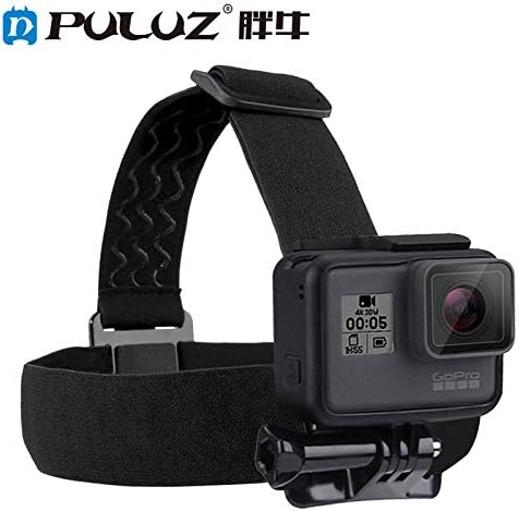 Alician PULUZ GoPro Hero 5 4セッション3 + 3 2 1用防水ヘッドバンドマウント調節可能な弾性ヘッドバンドストラップ
