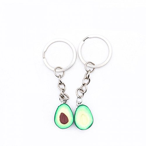 Buorsa 2Pcs Cute Avocado Keychain Set Miniature food jewelry for Best friends and Couples by Buorsa