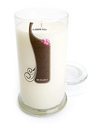 Pure Gardenia Candle - 16.5 Oz. Highly Scented White Jar Candle - Floral Candles Collection
