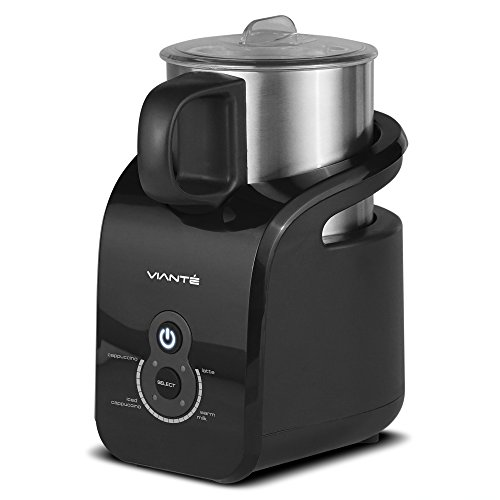 Viante CAF-20 Automatic Milk Frother. 4 Pre-set Programs. Cappuccinos, Lattes, Iced  Cappuccinos and Warm Milk. Detachable Non-Stick, Dish Washer Safe Milk Jug. Magnetic Drive. Convection Technology