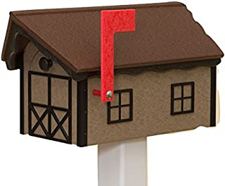 product image for Recycled Poly Plastic Barn Mailbox USA Handmade (Tudor & Weatherwood)