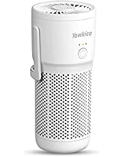 Yawkica Mini Portable Air Purifier, H13 True HEPA Car Air Purifier with 3 Stage Filter & Fragrance Sponge, Smoke Dust Odor Eliminator, Personal Air Purifiers for Home, Travel, Bedroom, Desk