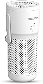 Yawkica Mini Portable Air Purifier, H13 True HEPA Car Air Purifier with 3 Stage Filter & Fragrance Sponge,