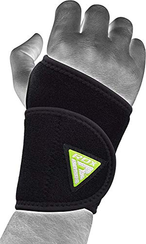 RDX Wrist Support Wraps Thumb Brace Carpal Tunnel RSI Gym Exercise Sprains Repetitive Strain Injury Arthritis Workout Straps Neoprene Breathable Adjustable Tendonitis Training (Sold as Single -