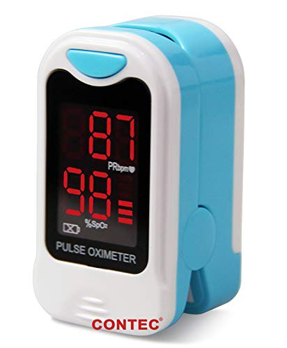 - CMS50M Pulse Oximeter with Carrying Case,Neck/Wrist Cord & One-Year Warranty SpO2 and PR Value Waveform Blood Oxygen Oxymeter