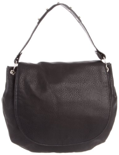 BCBGeneration Quinn APX009GN Hobo,Black,One Size, Bags Central