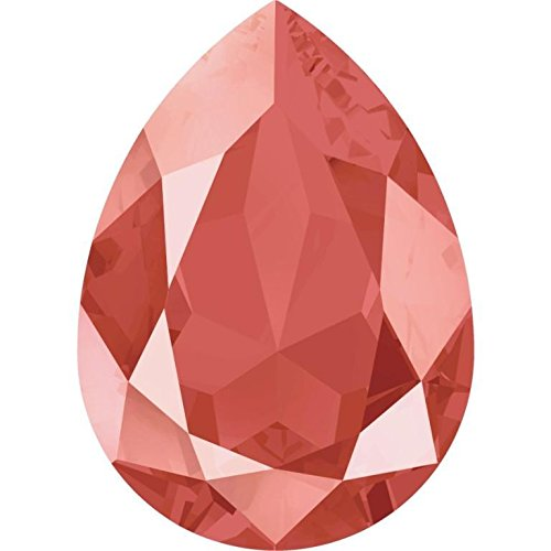 4320 Swarovski Fancy Stones Chunky Pear Patina & Lacquer Colours | Crystal Light Coral | 14x10mm - Pack of 144 (Wholesale) | Small & Wholesale Packs | Free Delivery by Swarovski