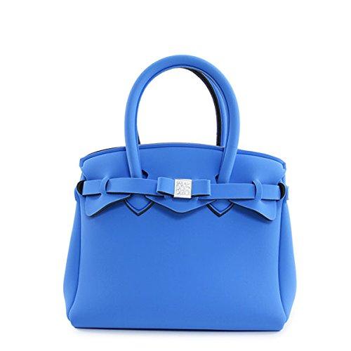 SAVE MY BAG セーブマイバッグ PETITE MISS LYCRA 10104N プティ ミス 軽量 ハンドバッグ トートバッグ Sサイズ カラーZAFFIRO/スカイブルー [並行輸入品]