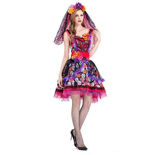 ArMordy - Deluxe Halloween Sexy Adult Women Vampire Costumes Victorian Vamp Fancy Party Dress Witch Female Costumes Zombie Uniforms [L 2] ()