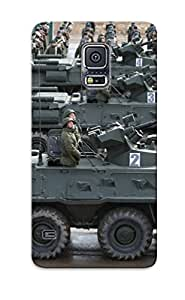 Tpu Shockproof/dirt-proof Btr82a Apc Troops Russian Army Russia Parade Victory Day Parade 2014 Rehearsal In Alabino Cover Case For Galaxy(s5)