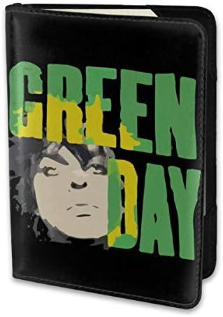 Green Day ロング グリーンデイ パスポートケース メンズ レディース パスポートカバー パスポートバッグ 携帯便利 シンプル ポーチ 5.5インチ PUレザー スキミング防止 安全な海外旅行用 小型 軽便